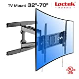 Loctek R2L For Both Flat and Curved Panel UHD HD TV Wall Mount Bracket with Articulating Arm Swivel & Tilt for most of 32-70 Inches LED, LCD, Plasma, OLED TVs