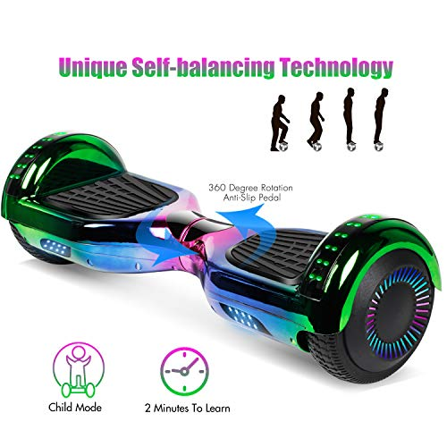 jolege Hoverboard with Bluetooth 6.5 inch Self Balancing Hoverboards for Kids with LED Flahing Lights-UL2272 Certified by jolege (Image #2)