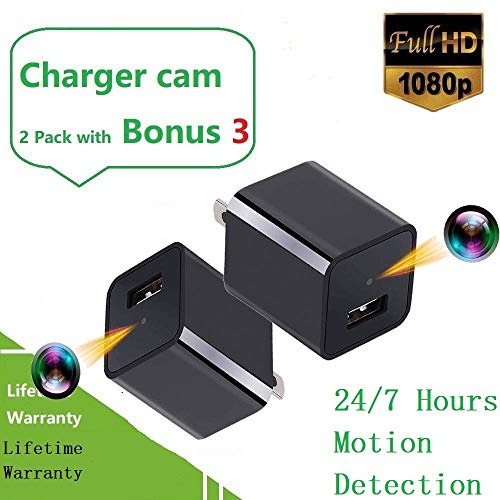 2019 Upgraded Spy Camera Charger Bundle No WiFi-Hidden Spy Phone USB Charger Camera Motion Activated All The Day (Best Small Camera Phone 2019)