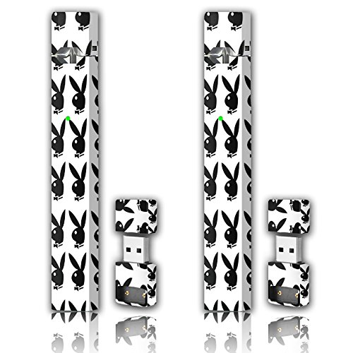 Removable Bunny - 2 Pack - Juul Skin Wrap Vinyl Sticker Decal | JUUL Charger Skin & Prep Pad - PlayBoy Bunny