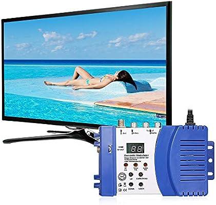 Moniel M66 RF Modulator Audio Video TV Converter Amplificador de señal: Amazon.es: Electrónica