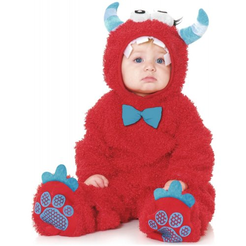Monster Costume Infant Madness (Little Monster Madness Baby Infant Costume Red -)