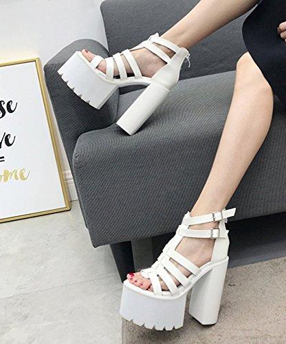 Chaussures Chaussures Et Poisson Forme Des Au Sandales Été Thirty Plate nine White Scène La Des En Chaussures Printemps Bouche 5Cm 8 À Avec KHSKX Et vRqWY746Fw