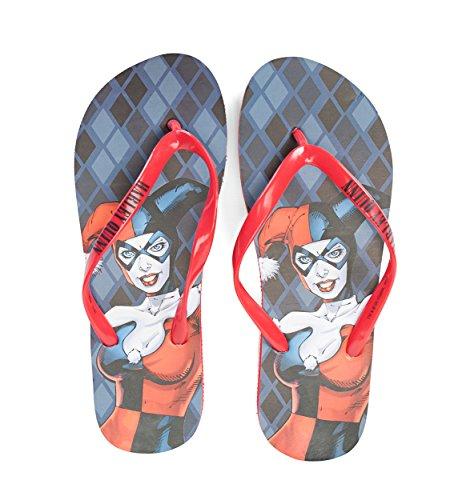 Concept One DC Comics Harley Quinn Sublimated Womens Flip Flop Sandals U2tr2