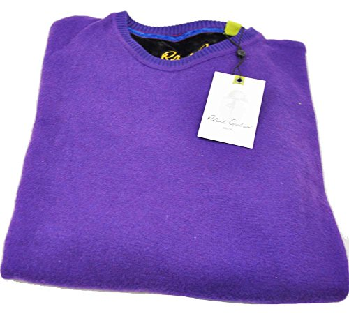 robert-graham-mens-medium-blackberry-long-sleeve-crew-neck-pullover-sweater