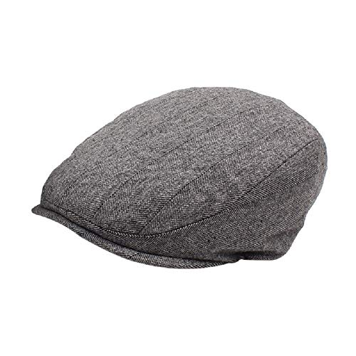 ZHANGZHIYUA Mens Winter Newsboy Cap Fitted Ivy Flat Cap Cold Weather Hats Lined
