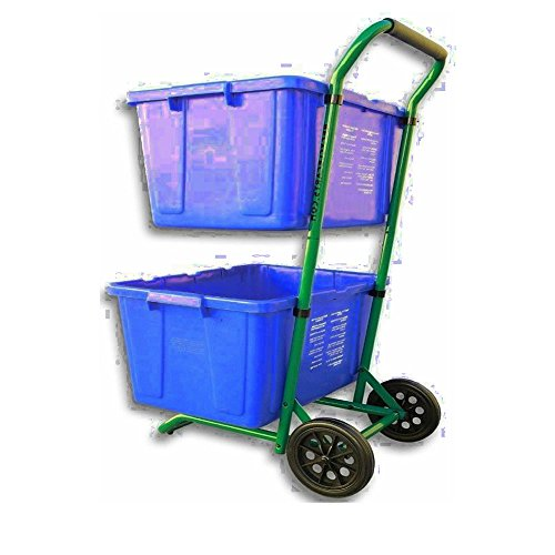 GT Recycle Bin Trolley Garbage Can Trash Cart with Wheels Portable with Lid Kitchen Outdoor Plastic Trash Can Holder Lid Garbage Dispenser & Ebook by Easy 2 Find.