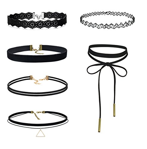 Besteel 4 5pcs Velvet Choker Necklace