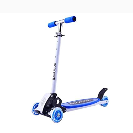 QRFDIAN ,Micro Mini Deluxe Kick Scooter Childrens Scooter/Three-Wheeled Baby Swing Scooter/Entry Childrens Scooter/Four-Wheel with Flash, Adjustable, ...