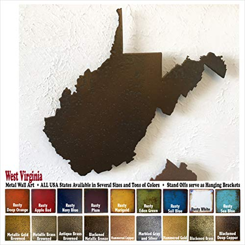 - West Virginia metal wall art - Choose 11