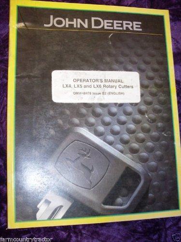 John Deere LX4/5/6 Rotary Cutters OEM OEM Owners Manual