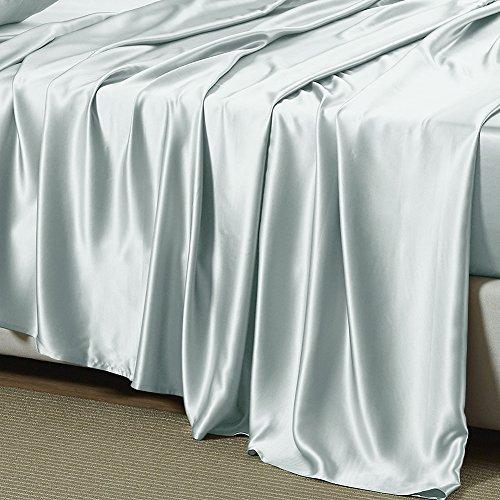 THXSILK 22 Momme Silk Sheet Set 4 Pcs, Silk Bed Sheets, Luxury Bedding Sets...