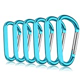 """3"""" Aluminum Carabiner Keychain Clip with Keyring, Light Durable Round Shape Nonlocking Caribeaner Hook Buckle for Outdoor Camping EDC Key Chain Ring"""
