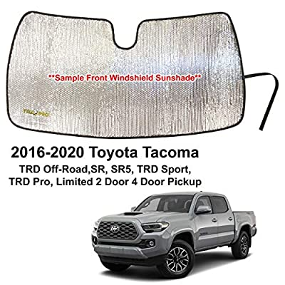 YelloPro Custom Fit Automotive Reflective Windshield Sunshade Accessories UV Reflector for 2016 2020 2020 2020 2020 Toyota Tacoma TRD Off-Road, SR, SR5, TRD Sport, TRD Pro, Limited 2 Dr 4 Door Pickup: Automotive