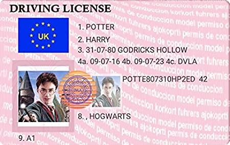 - Driving Amazon License Potter Kitchen amp; uk Keyring Novelty co Harry Home