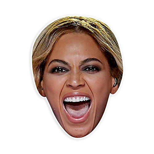 Excited Beyonce Mask - Perfect for Halloween, Masquerade, Parties, Events, Festivals, Concerts - Jumbo Size (Halloween Costumes Beyonce)