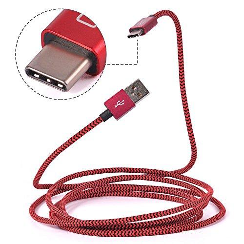 18 opinioni per Cavo USB Tipo C- 2m / 6.6ft- Nylon Intrecciato e Connettore in Alluminio- CACOY