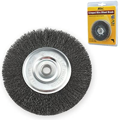 IVY Classic 39050 3-Inch x 1/2 - 3/8-Inch Arbor, Carbon Steel Crimped Wire Wheel Brush - 0.012-Inch Coarse, 1/Card