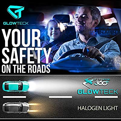 Glowteck LED Headlight Bulbs Conversion Kit - H11 (H8/H9) Cree XHP50 Chip 12000 Lumens/Pair 68 Watt 6500 Kelvin 2 Year Warranty: Automotive