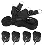 Under Bed Restraints System, Adjustable Mattress, Bondage Restraints Kit With Cuffs For Ankles and Wrists, Fits Almost Any Size Mattress Black