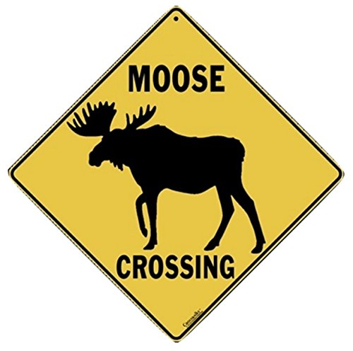 Sign Crossing Aluminum (MOOSE SILHOUETTE Aluminum Crossing Sign)