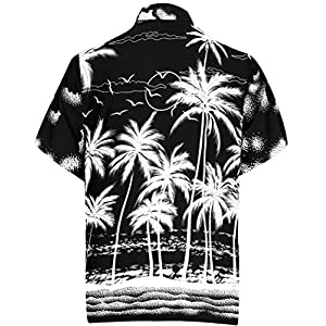 LA LEELA Men's Party Outfit Relaxed Beach Camp Short Sleeve Hawaiian Shirt