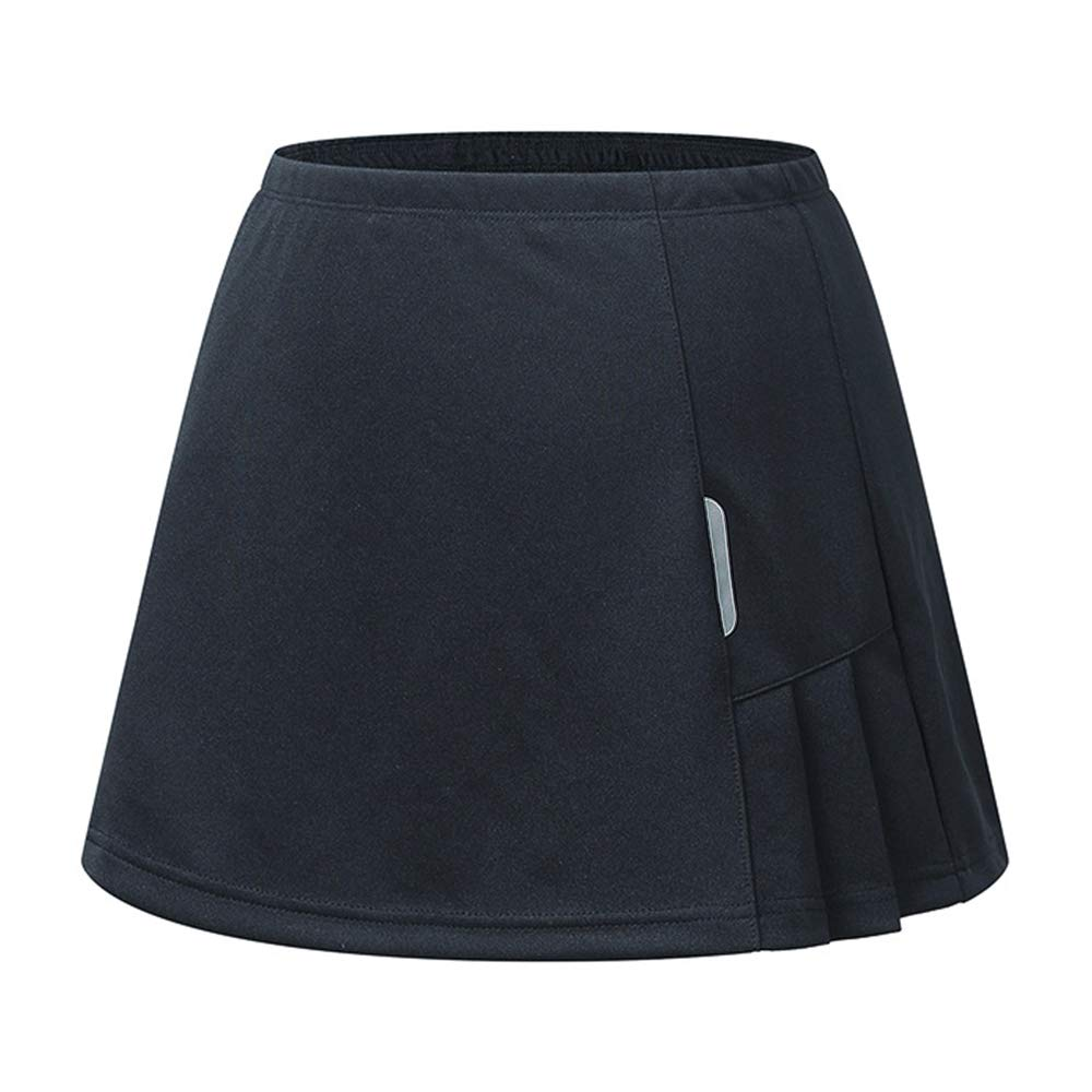 RainbowTree Women's Active Performance Skort Casual Pleated Skirt for Running Tennis Golf Workout Black by RainbowTree