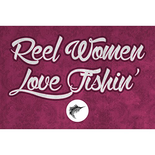 Aluminum Metal Reel Women Love Fishin Wall Shelf Decor Fishing