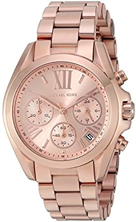 michael kors women 39 s bradshaw rose gold tone watch mk5799 michael kors watches. Black Bedroom Furniture Sets. Home Design Ideas