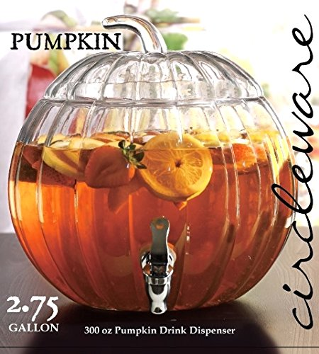 Circleware Pumpkin Clear Glass Beverage -