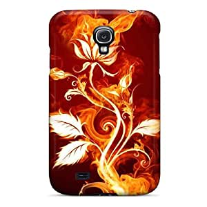 Forever Collectibles Flaming Rose Hard Snap-on Galaxy S4 Case