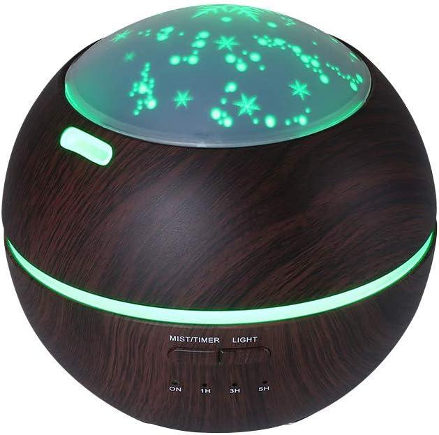 Cool Mist Humidifier Night Light - 200ML Capacity Ultrasonic Humidifier with Moon & Star Nightlight Home Indoor Decoration for Office, Bedroom, Baby, Yoga, Spa, Cub