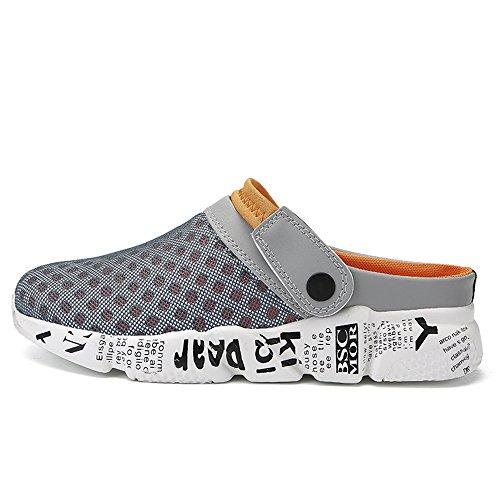 Scarpe Casual Pantofola da arancione Spiaggia Zoccoli Uomo Sandali Respiranti Antiscivolo Sport per DADAZE wqTZgn