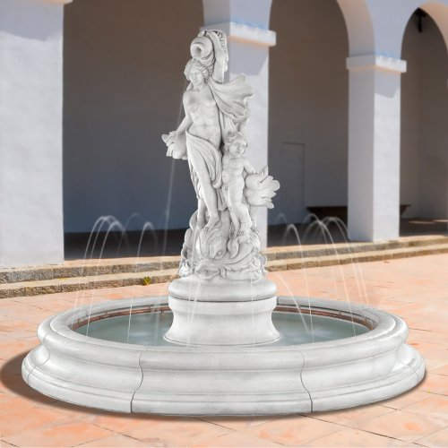 Henri Studio 5905F11 Venus with Dolphins in Toscana Pool Fountain