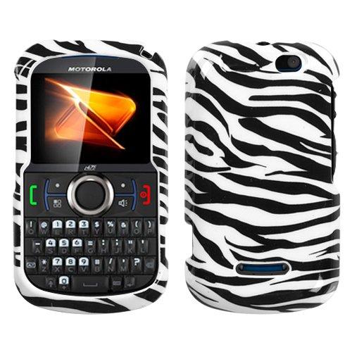 Zebra Motorola Faceplates (Zebra Skin Phone Protector Faceplate Cover For MOTOROLA i475(Clutch+))