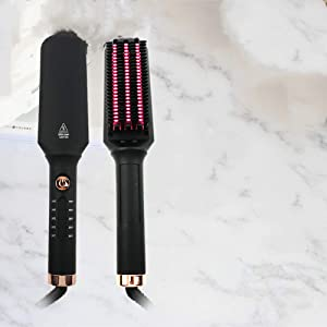 Anion Straight Hair Comb, Straight Curl Dual-purpose Two-in-one Curling Iron, Wool Curling Curler, Straightener