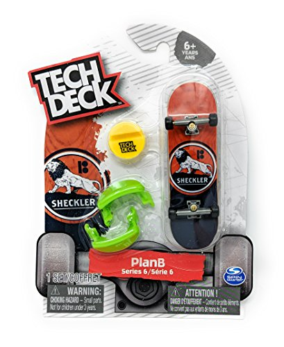 Tech Deck PlanB Series 6 Sheckler Lion Common Fingerboard Skateboard Starter Toy Skate - Display Deck Tech