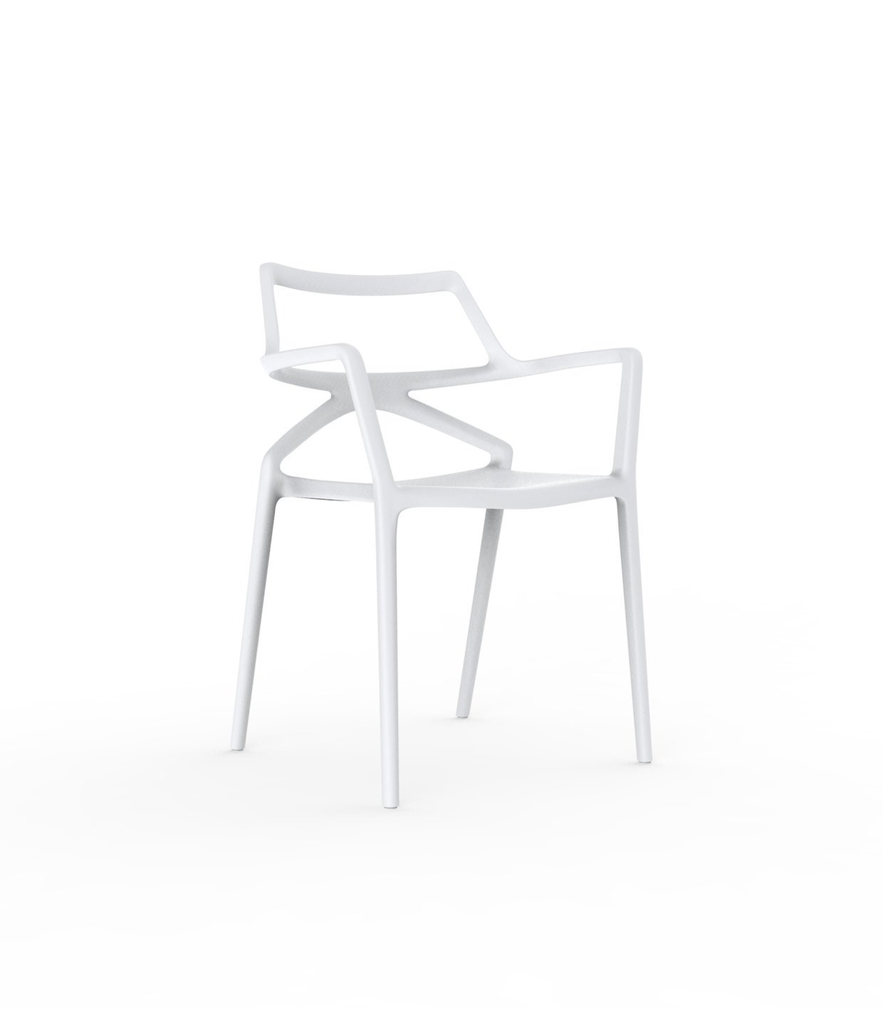 Vondom Delta Armlehnstuhl - weiß - Jorge Pensi Design Studio - Design - Gartenstuhl - Terrassenstuhl
