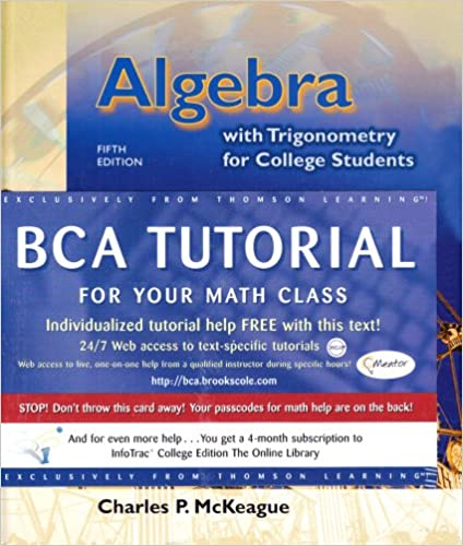algebra trigonometry for college students book cd rom  algebra trigonometry for college students book cd rom charles p mckeague 9780534432959 com books