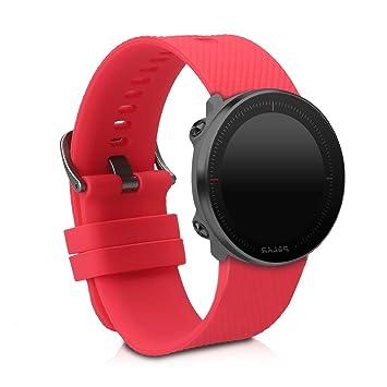 kwmobile Pulsera para Polar Vantage M - Brazalete de [Silicona] en [Rojo] sin Fitness Tracker