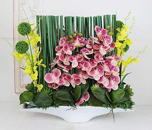 造花インテリア 雑貨 花束 インテリアフラワー お部屋の装飾 フラワーポット入り 造花ブーケ ホテルフロント 応接室.最適、とても豪華です B07QGNFVWF