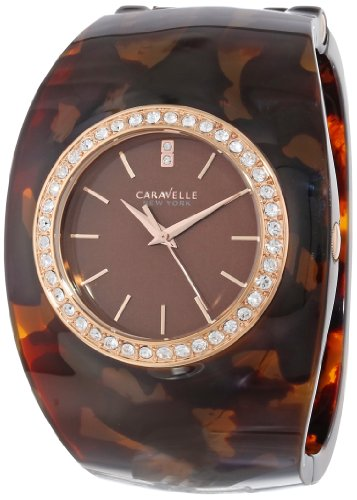 Bulova Womens Bangle (Caravelle New York Women's 44L140 Analog Display Japanese Quartz Brown Watch)