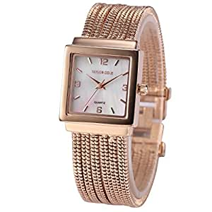 Taylor Cole Womens Quartz mother of pearl dial brass tassel Band Wrist Watch TC046