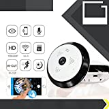 Ocamo 360 Degree Fisheye 960P Camera Wifi Cameras with IR Night Vision Home Office Security Camera