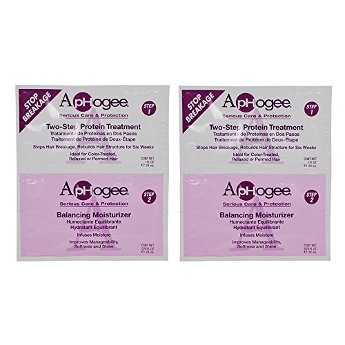 ApHogee Two-Step Protein Treatment 1oz & Balancing Moisturiz