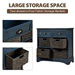 Harper & Bright Designs Rustic Storage Cabinet with Two Drawers and Four Classic Fabric Basket for Kitchen/Dining Room…