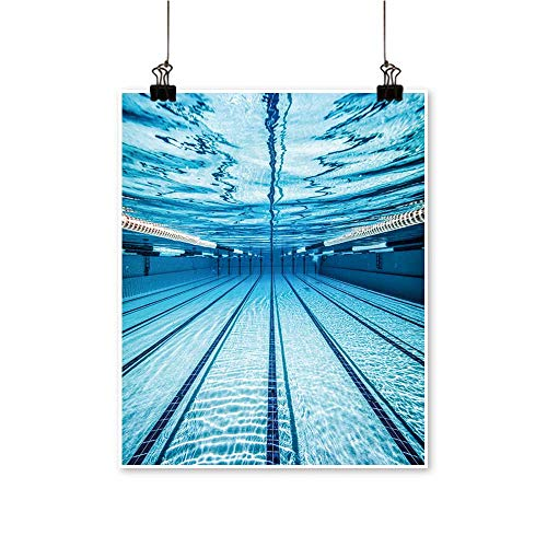 Art Picture Colorful Canvas Print swimm Pool Under Water Pai
