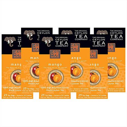 The Original Ceylon Tea Company, Mango Tea, 25-Count Tea Bags (Pack of 6)