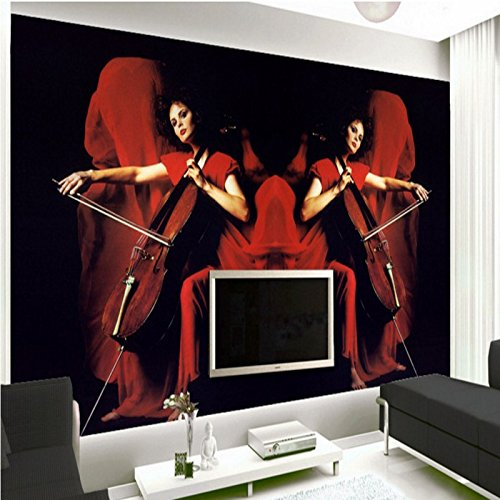 LHDLily Red Beauty Background Wall Bedroom Bathroom Mural 3D Living Room Lobby Office Wallpaper 400cmX300cm by LHDLily