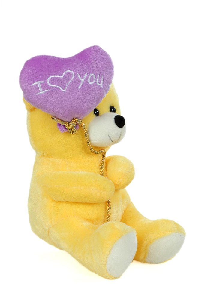1a98ae69d5e3 Buy Soft Stuff Cute Teddy Bear with I Love You Heart Ballon Yellow Soft Toy  32cm- H Online at Low Prices in India - Amazon.in